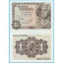Испания 1 песета 1948 год.