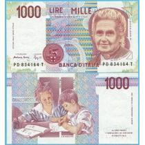 Италия 1000 лир 1990 год.