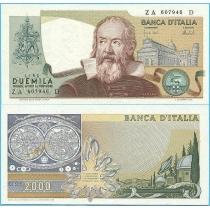 Италия 2000 лир 1973 год.