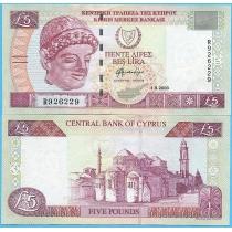 Кипр 5 фунтов 2003 год.