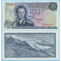 Люксембург 20 франков 1966 год.