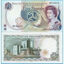 Остров Мэн 5 фунтов 2015 год.