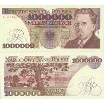 Польша 1 000 000 злотых 1991 г.