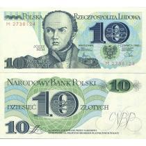 Польша 10 злотых 1982 г.