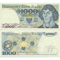 Польша 1000 злотых 1975 г.