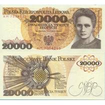 Польша 20000 злотых 1989 г.
