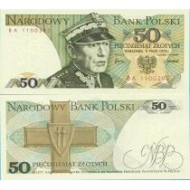 Польша 50 злотых 1975 г.