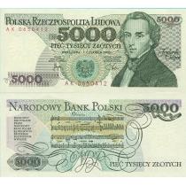 Польша 5000 злотых 1982 г.
