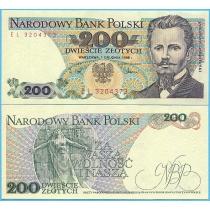 Польша 200 злотых 1988 год.