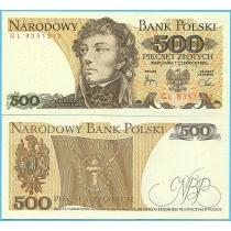 Польша 500 злотых 1982 год.