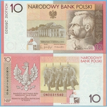 Польша 10 злотых 2008 год. 90 лет Независимости
