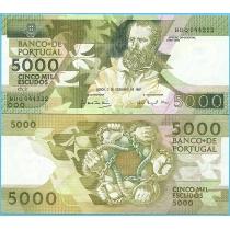 Португалия  5000 эскудо 1987 год.