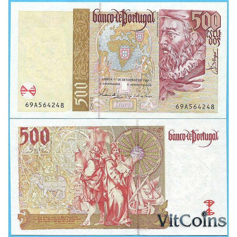 Банкнота Португалия  500 эскудо 1997 год.