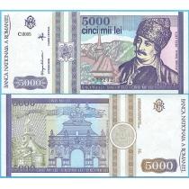 Румыния 5000 лей 1993 год.