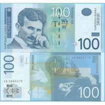 Сербия 100 динар 2013 год