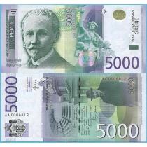 Сербия 5000 динар 2016 год.