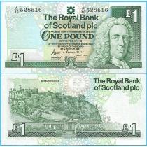 Шотландия 1 фунт 1987 год.