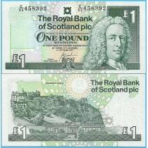 Шотландия 1 фунт 2001 год.