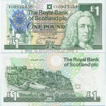 Шотландия 1 фунт 1992 г. Европейский саммит