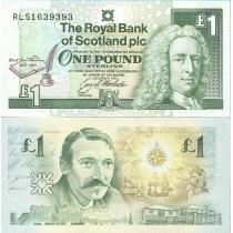 Шотландия 1 фунт 1994 год. Роберт Стивенсон