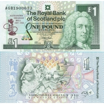 Шотландия 1 фунт 1997 год. Александр Белл