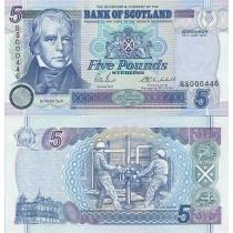 Шотландия 5 фунтов 2002 г.