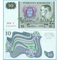Швеция 10 крон 1976 год.