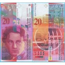 Швейцария 20 франков 2005 год.