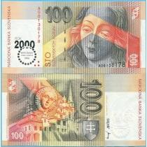 Словакия 100 крон 2000 год. Тысячелетие.