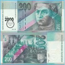 Словакия 200 крон 2000 год. Тысячелетие.
