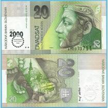 Словакия 20 крон 2000 год. Миллениум.