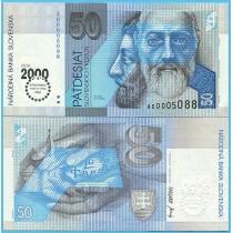 Словакия 50 крон 2000 год. Миллениум.