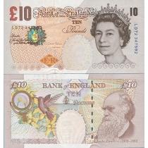Великобритания 10 фунтов 2000 год.