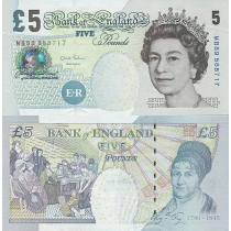 Великобритания 5 фунтов 2002 г.