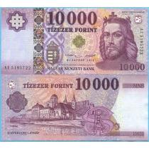 Венгрия 10000 форинтов 2014 год.