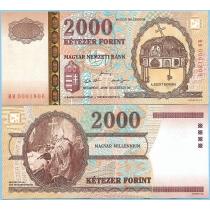 Венгрия 2000 форинтов 2000 год. Миллениум.