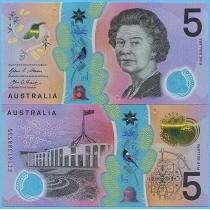 Австралия 5 долларов 2016 год.