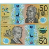 Австралия 50 долларов 2018 год. Ошибка в микротексте.