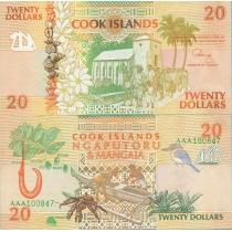 Острова Кука 20 долларов 1992 год.