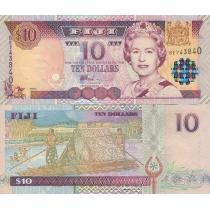 Фиджи 10 долларов 2002 год.
