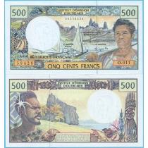 Французские Тихоокеанские Территории 500 франков 2003 год.