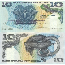 Папуа Новая Гвинея 10 кина 1985 год.