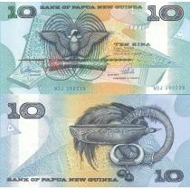 Папуа Новая Гвинея 10 кина 1988 год.