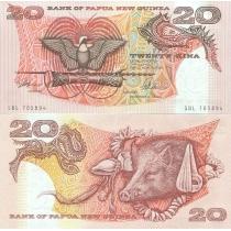 Папуа Новая Гвинея 20 кина 1989-1992 год.