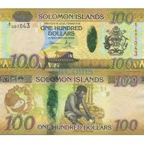 Соломоновы острова 100 долларов 2015 г.