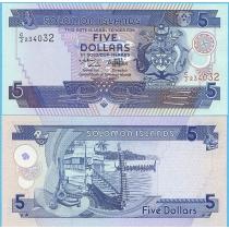 Соломоновы острова 5 долларов 1997 год.
