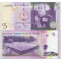 Тонга 5 паанга 2009 год.