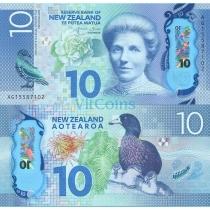 Новая Зеландия 10 долларов 2015 г.