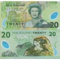 Новая Зеландия 20 долларов 2014 г.