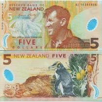 Новая Зеландия 5 долларов 2014 год.
